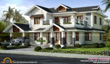 2446 Sq-ft Villa Exterior - Kerala Home Design And Floor Plans