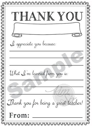 teacher appreciation day printable