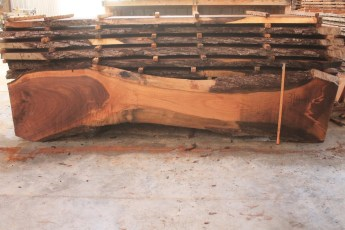 Walnut 319-14  Length 12', Max Width (inches) 32 Min Width (inches) 9 Thickness 10/4  Notes :Kiln Dried