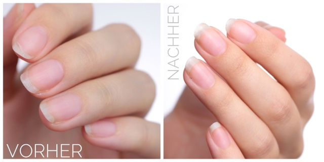 anny liquid nails pflegelack basecoat before & after vorher & nachher