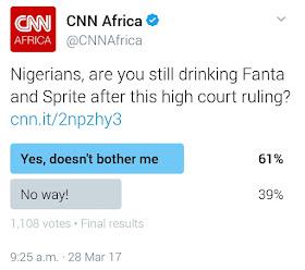 Nigerians Are Still Drinking Fanta And Sprite After High Court Ruling - CNN Polls
