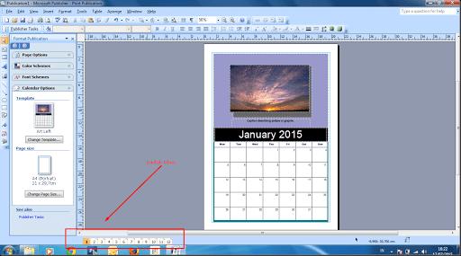 cara mendesain calendar 7