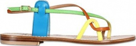 Positano muti-colored strappy flats