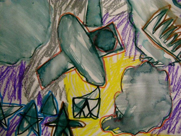 Simple Abstract Shape Art & 1st Grade . Taylor'