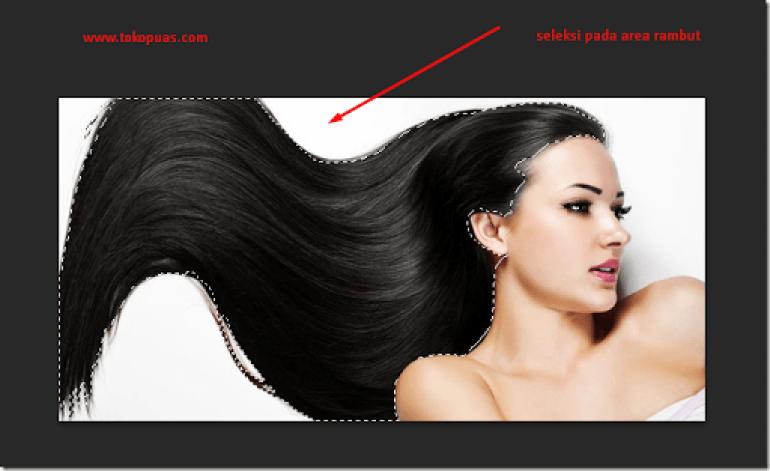 merubah warna rambut photoshop