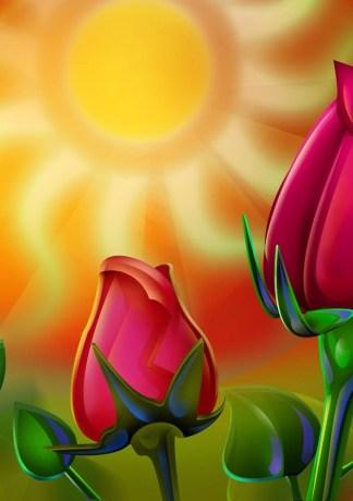 25 hình nền hoa hồng đẹp cho máy tính