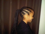 tweeny hair cornrow ponytail