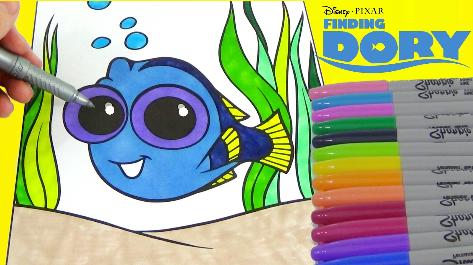 Coloring Book Pages Easy Disney Baby Dory Cute Disney Coloring