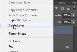 delete layer