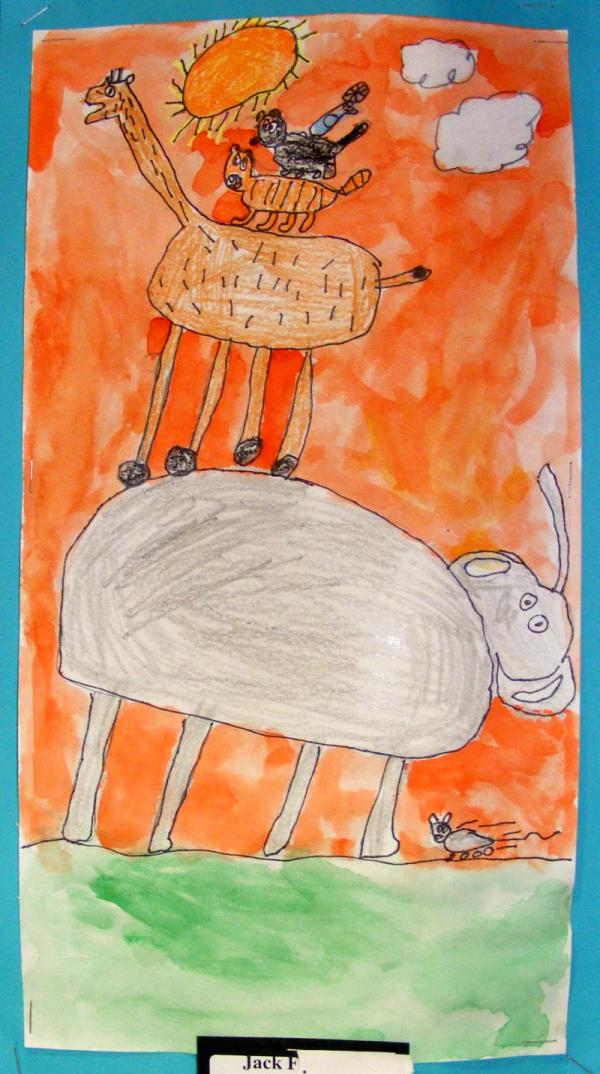 Suffield Elementary Art Alexander Calder Inspired Circus Animal Sculptures And Drawings