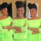 chacha eke hairstyles look