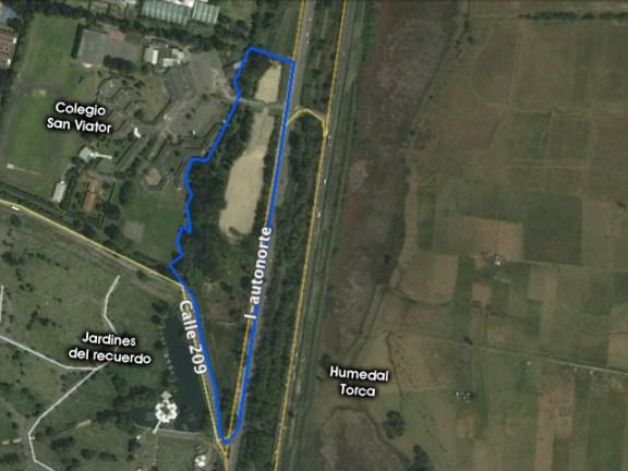 Mapa Humedal Colegio San Viator