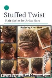 stuffed twist with pincurls hair