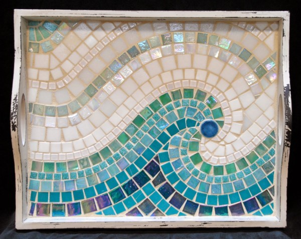 Cool Wave Mosaic Serving Tray Mot3031 - Beads & Pieces