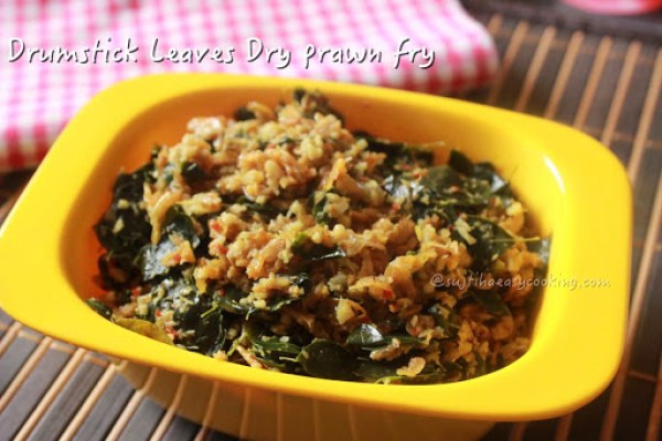 Drumstick Leaves prawn fry2