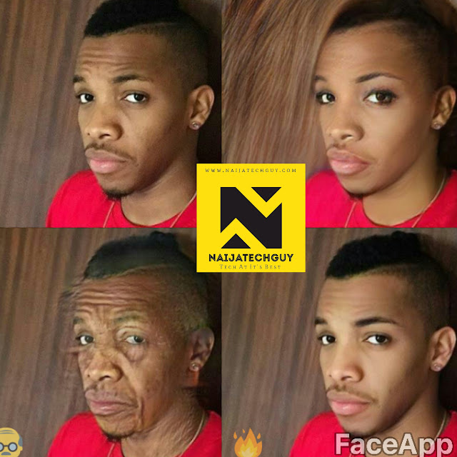 Check Out Ex President Obasanjo, Tekno, Genevieve Nnaji And Others After A FaceApp Transformation 3
