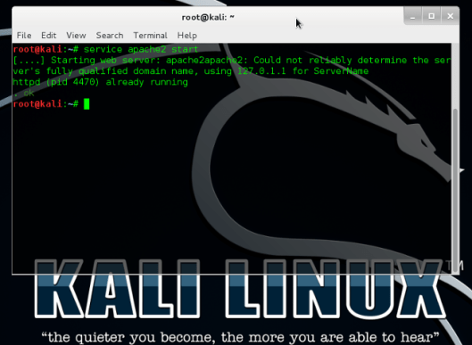 Starting Apache2 Service