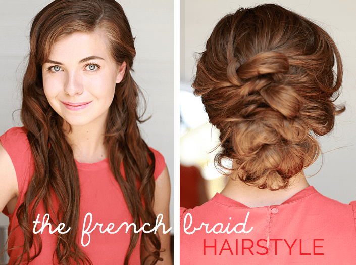 french braid tutorial, where to buy hair extensions, clip-in extensions, Rubin Extension brand, braided hairstyle for a wedding