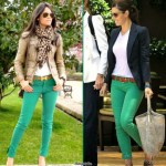What to wear with green pants at work 11 idea