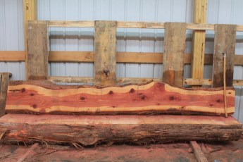 "Cedar 283-1  Length 10' 6"" Max Width (inches) 15 Min Width (inches) 10 Thickness 8/4  Notes : Kiln Dried"