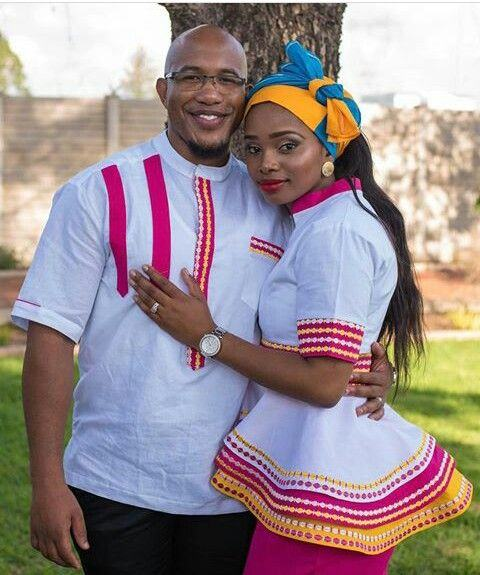 Sepedi traditional wedding dresses pictures