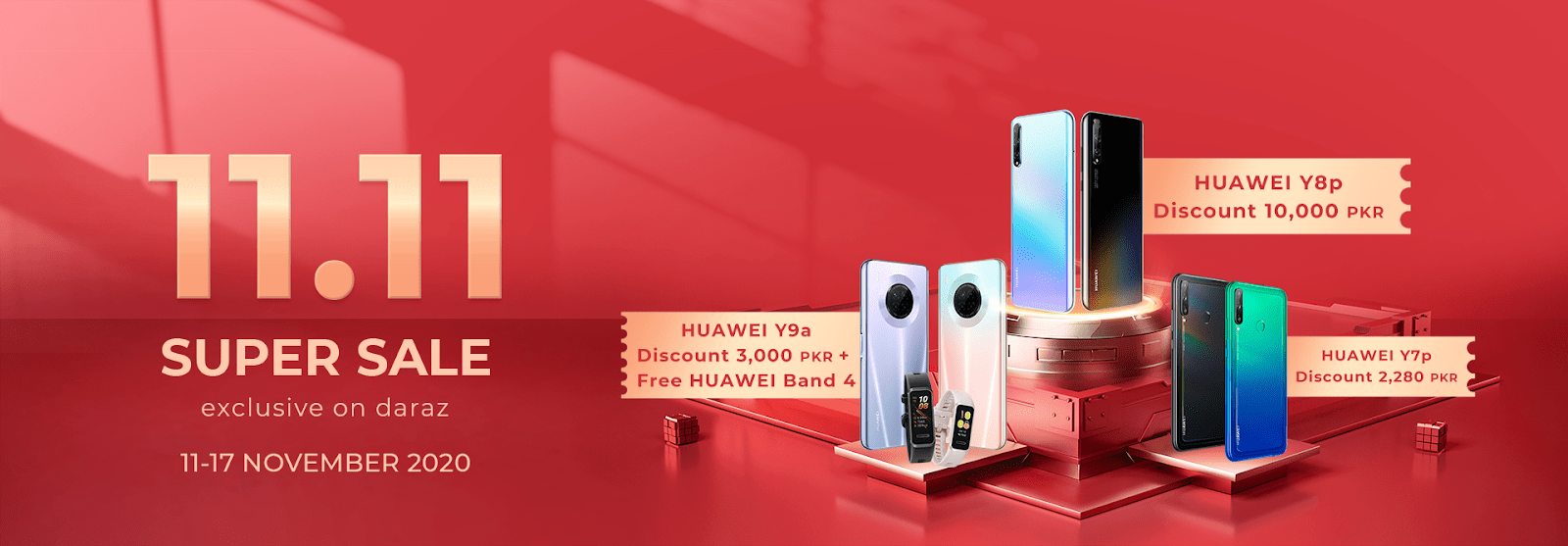 Huawei Launches Mega 11.11 Sale for its Devices Exclusively on Daraz.pk