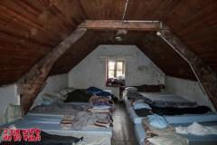 Dormitorio de invierno del Refugio de Wallon.