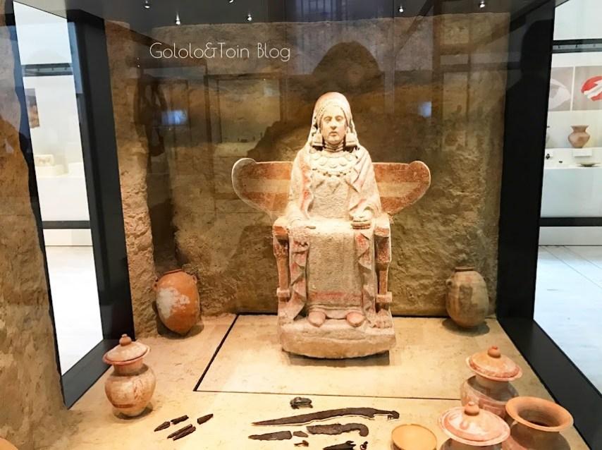 Figuras funerarias de la protohistoria en el museo arqueológico nacional
