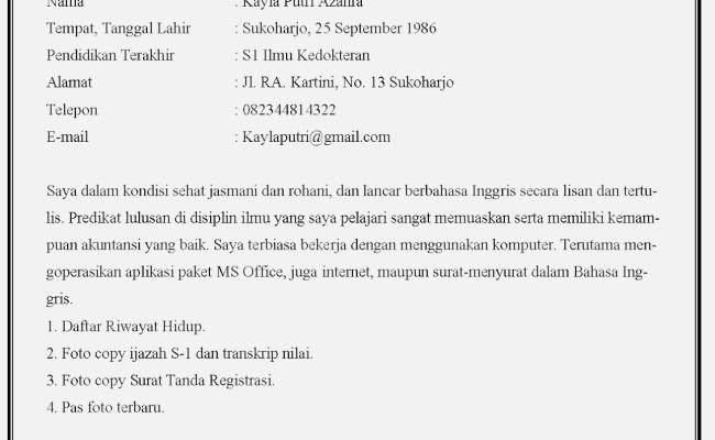 Contoh Surat Lamaran Kerja Tugas Bahasa Indonesia Kelas 12 Info Seputar Kerjaan Cute766