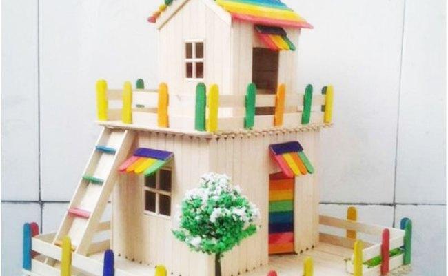 Ide Unik Membuat Rumah Mainan Dari Stik Es Krim Ragam Kerajinan Tangan Dubai Khalifa