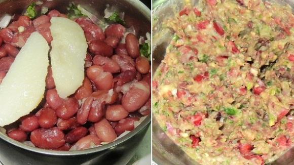Veggie Bean Burger Recipe | Mexican Vegetarian Cuisine | Vegetarian Kidney Bean Burgers recipe | Foodomania.com
