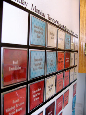Wall Menu Board from Controlling My Chaos - 8 DIY Menu Planner Ideas