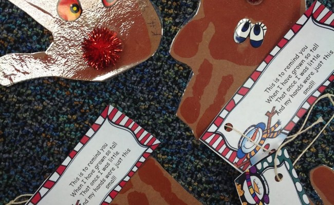 Reindeer Parent Ornament Gifts Sssteaching