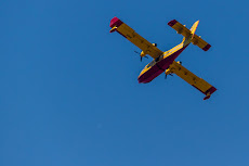Firefighting planes over our heads