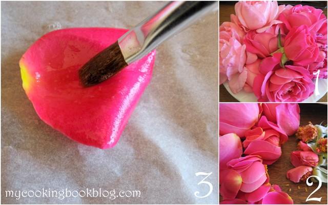Как се правят захароани розови листа