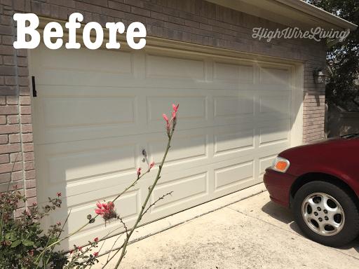 garage door accents before