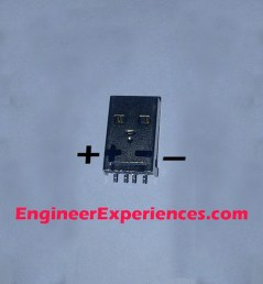 Male USB Connector connection diagram