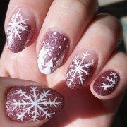 inspiring snowflake nail art