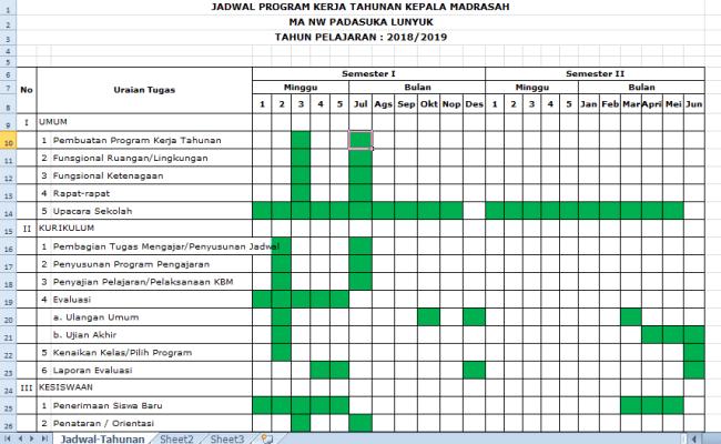 Contoh Program Kerja Kepala Sekolah Smp Mts Terbaru Tahun Cute766