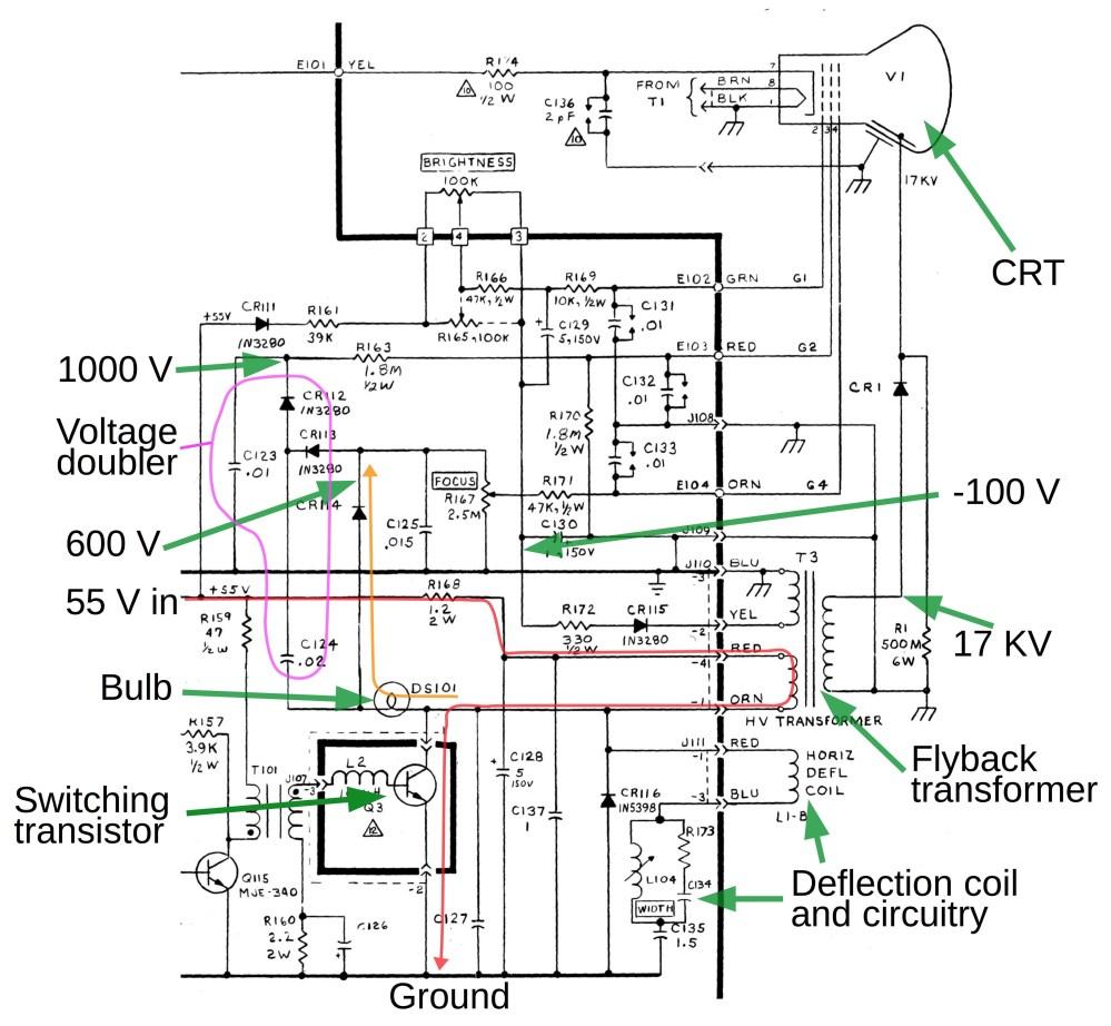 medium resolution of circuit diagram horizontal deflection wiring diagram database electronic circuit diagram low power high frequency deflection
