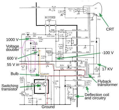 small resolution of circuit diagram horizontal deflection wiring diagram database electronic circuit diagram low power high frequency deflection
