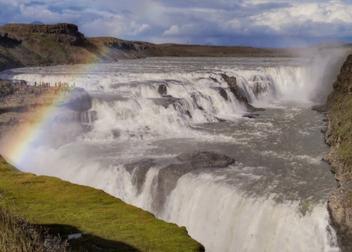 Gulfoss, one of the many waterfalls in Iceland