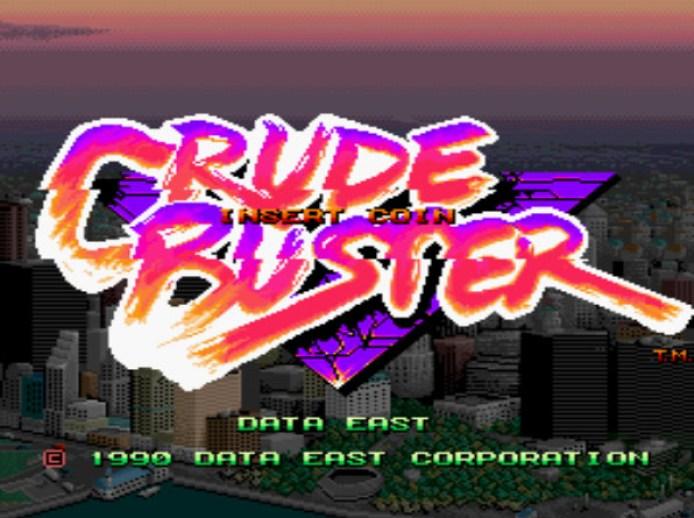 Tela título de Crude Buster
