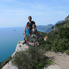 We cross the first peak, and the Amalfi cliffs stretch out to the West.
