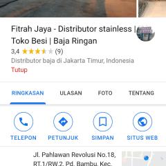 Distributor Baja Ringan Di Depok Fitrah Jaya Stainless Toko Besi
