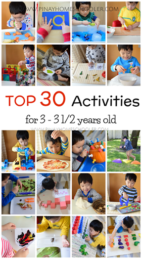 Top 30 Learning Activities For 3 To 3 5 Years Old The