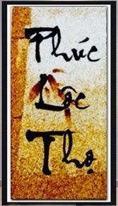 Thư pháp chữ PHÚC - LỘC - THỌ