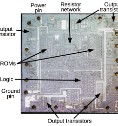 some visible features on the die of the alleged 74ls189 chip these features don  [ 1178 x 1088 Pixel ]