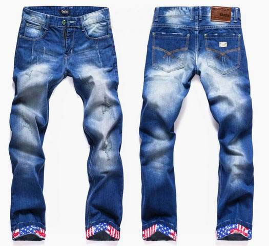 enzyme washed Ripped Denim Jeans