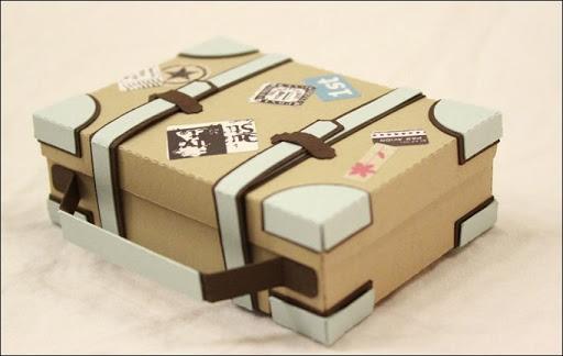 MiniReisekoffer als Verpackung fr UrlaubsGeldgeschenk